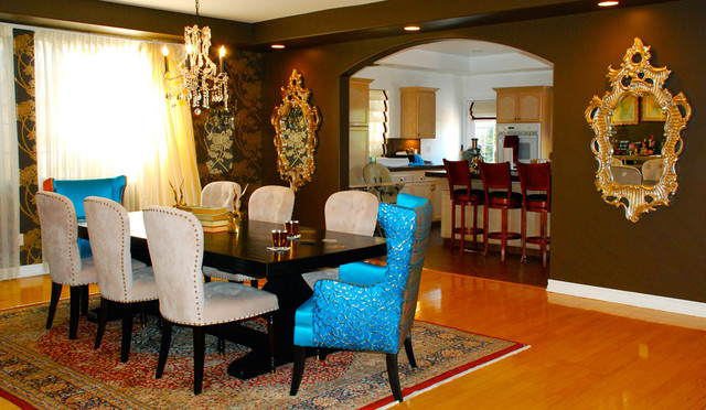 Dining Room with Accents from India eclectic dining room