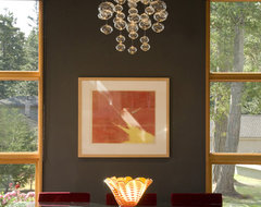 Dining room with bubble light eclectic dining room