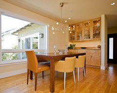 Dining Room with built-in sideboard modern-dining-room