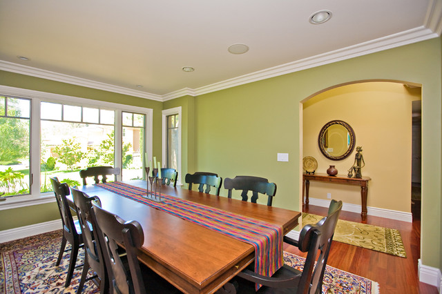 Dining room with custom cabinetry eclectic-dining-room