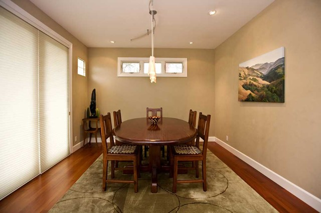dining room with faux leather texture paint