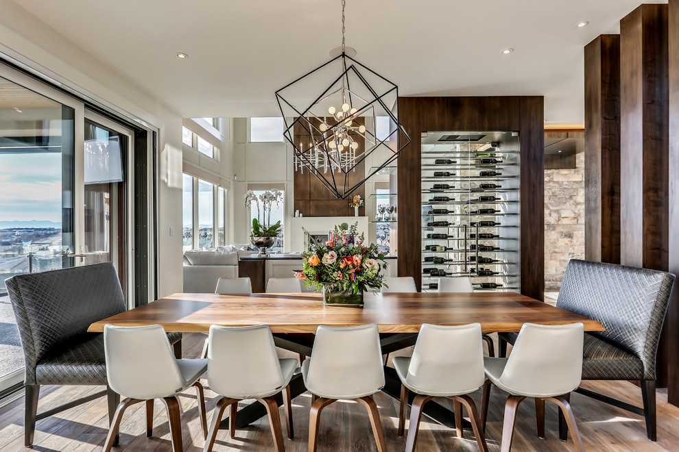 Dining Room With Floating Wine Rack, Wine Storage Dining Room