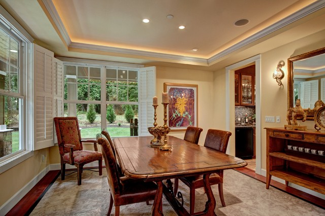 Dining Room with Lit Ceiling and Butlers Pantry - Contemporary - Dining Room - seattle - by ...