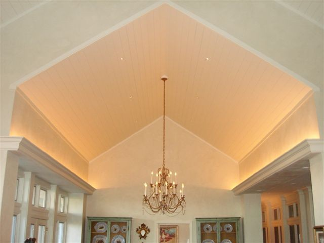 dining room with nearly invisible recessed lights