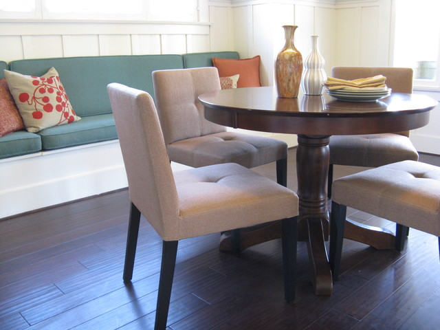 Dining Room with Plate Rack in Craftsman Style eclectic-dining-room