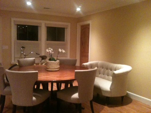 Beau Dining Room With Sofa Contemporary Dining Room