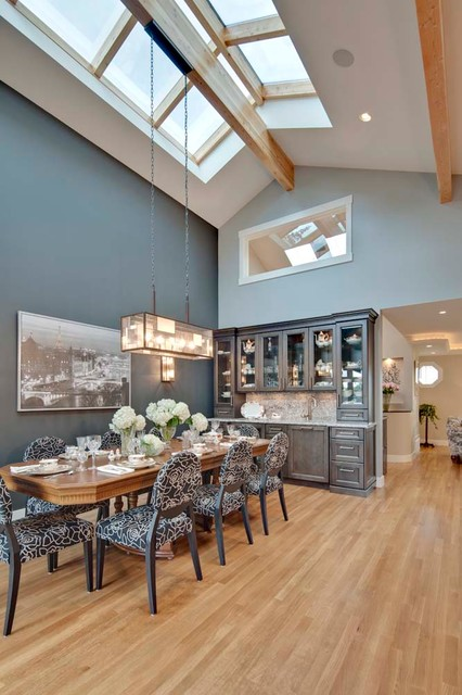 Great Room/ Dinning Room with Skyroof eclectic-dining-room