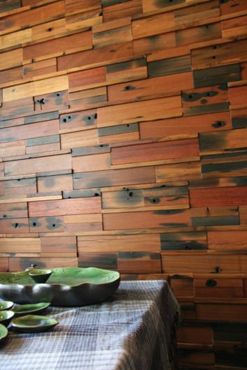 Dining Room Wood Wall Destiny Contemporary