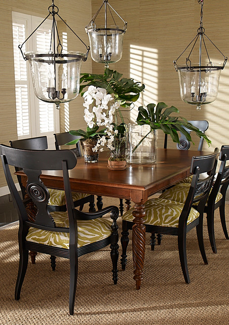 Dining rooms tropical dining room other by ethan allen for Tropical dining room ideas