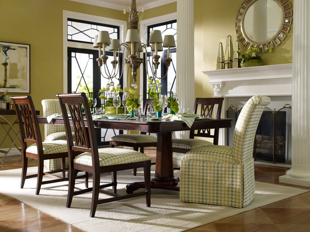 Ordinaire Example Of A Small Classic Brown Floor Enclosed Dining Room Design In New  York With Beige. Email Save. Ethan Allen