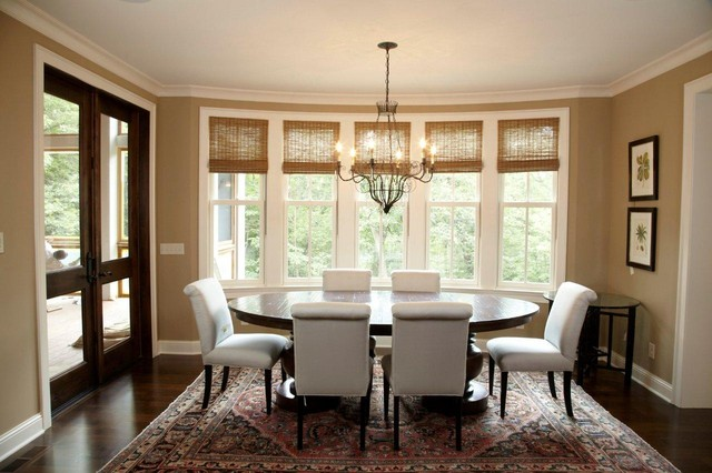 Superb Traditional Dark Wood Floor Dining Room Idea In Minneapolis With Beige Walls Part 5