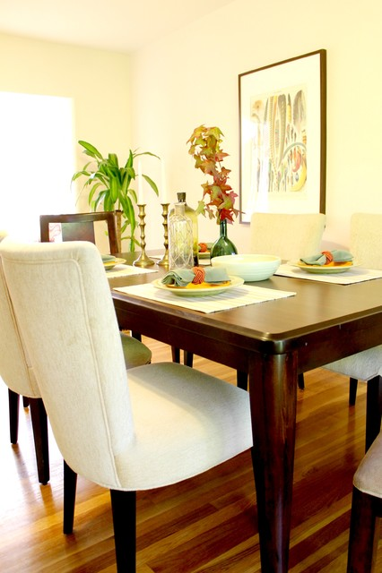 Dining table in updated traditional room for Update traditional dining room