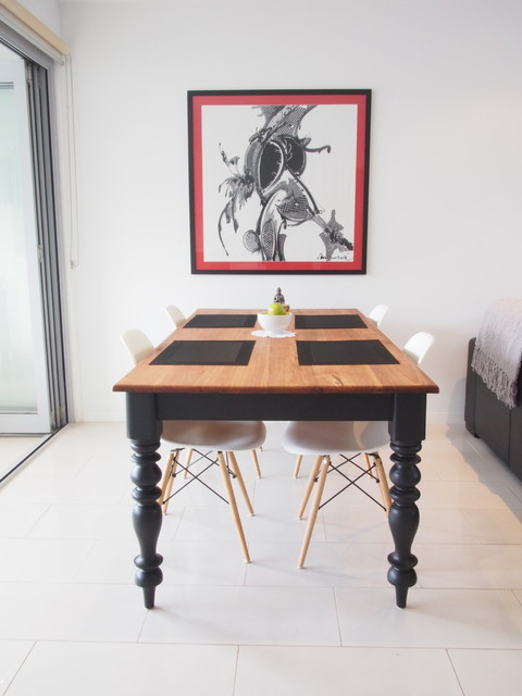 Dining Table Makeover Eclectic Room Brisbane
