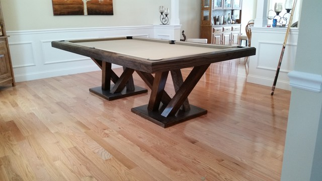 Dining Table Pool Convertible Contemporary Room
