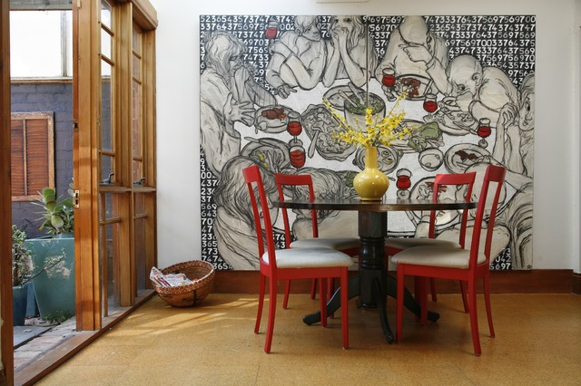 Attrayant Large Trendy Dining Room Photo In Melbourne