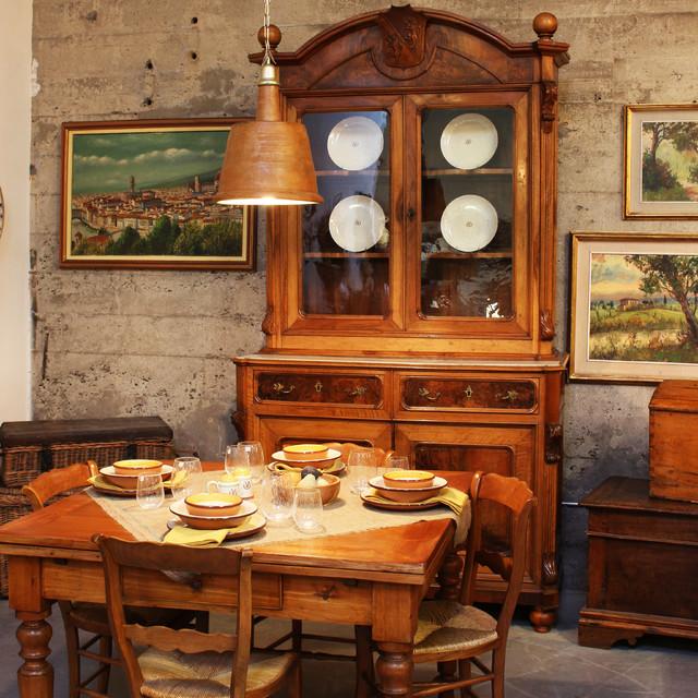 Dining With Italian Farmhouse Style Room