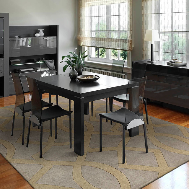 Dinning rooms contemporary dining room kansas city for Dining room rugs