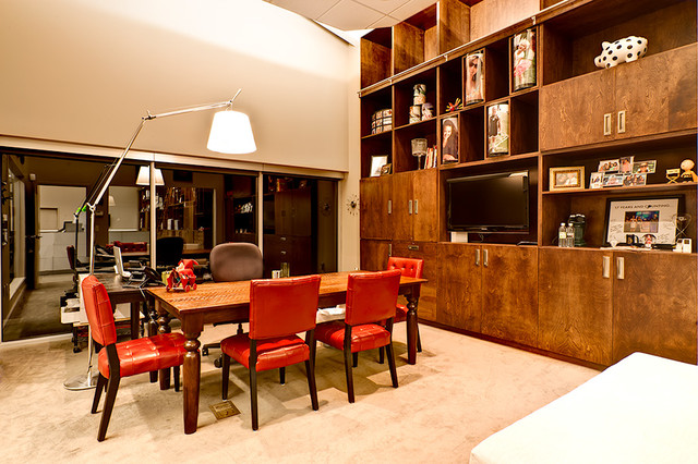 Display Wall Contemporary Dining Room Columbus By