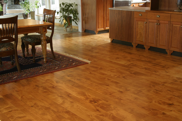 Distressed alder traditional dining room other metro for Traditional flooring