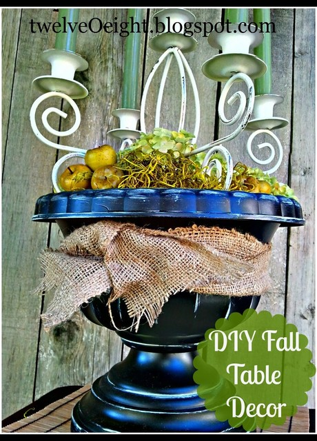 Diy fall table centerpiece eclectic dining room