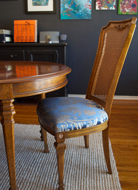 Diy Ideas Spray Paint And Reupholster Your Dining Room Chairs Traditional Dining Room Dallas By Sarah Greenman Houzz Au
