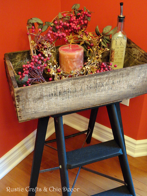 diy ladder tray table rustic dining room other metro