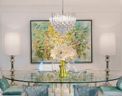 DKOR Interiors - Interior Design in Sunny Isles, FL Hollywood Regency eclectic dining room