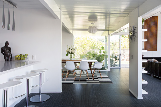 Double Gable Eichler Remodel midcentury-dining-room