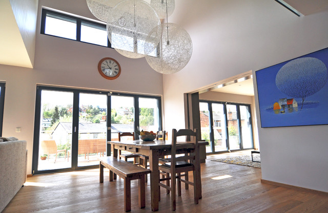 Double Height Dining Room Contemporary