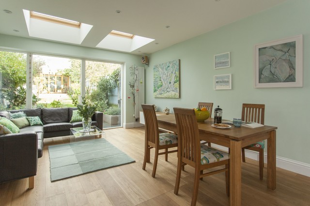 Double Storey Extension For Artist In Bishopston Bristol Contemporary Dining Room
