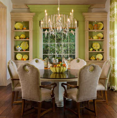 Dove Chandelier Tropical Dining Room