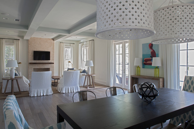 dow residence beach style dining room other metro by geoff
