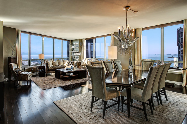Downtown Chicago Condo Contemporary Dining Room Chicago By Linly Designs