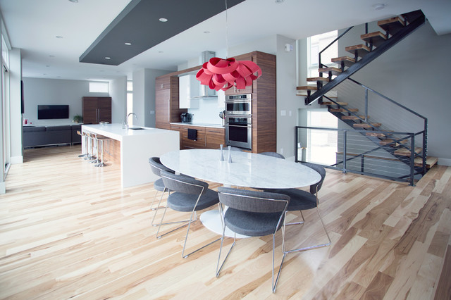 downtown indianapolis home contemporary dining room