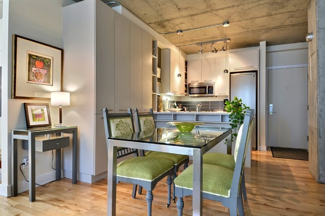 Downtown Montreal Loft contemporary-dining-room