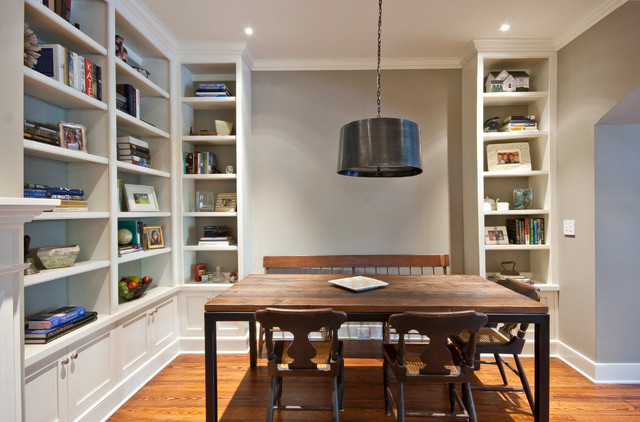 Downtown remodel traditional dining room charleston for Homeschool dining room ideas