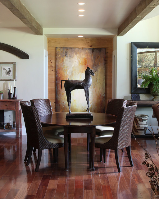 Modern Traditional Dining Room: Dragonfly Lodge