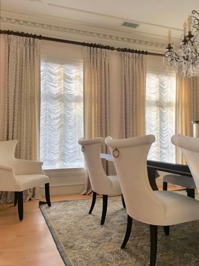 Drama & Designer Details in Modern Dining Room