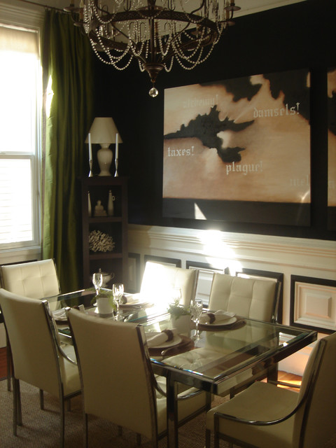 Dramatic Dining Room eclectic-dining-room