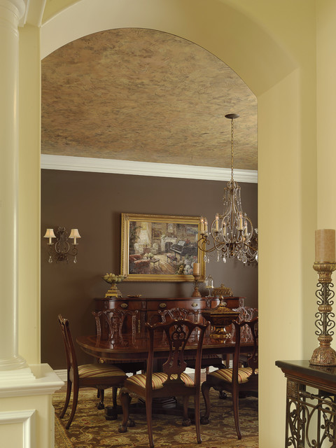 Dramatic Dining Room Ceiling Traditional Dining Room