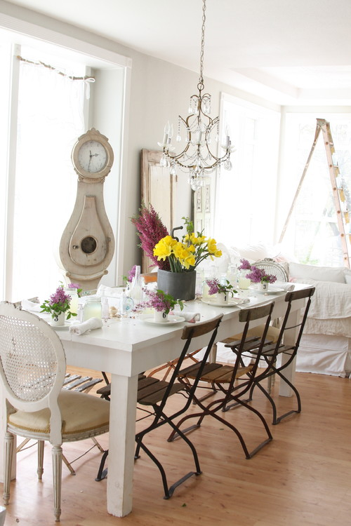 Shabby chic charm emerald interiors blog - French country table centerpieces ...