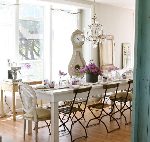 Dreamy Whites eclectic dining room
