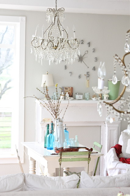 Dreamy Whites eclectic-dining-room