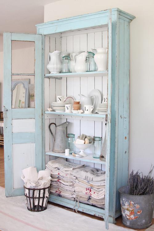 Chicken Wire Kitchen Cabinets