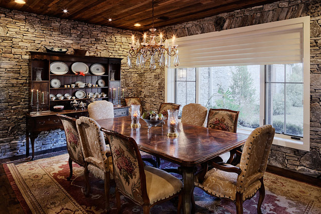 Hill country ranch estate rustic dining room austin for Rustic dining room