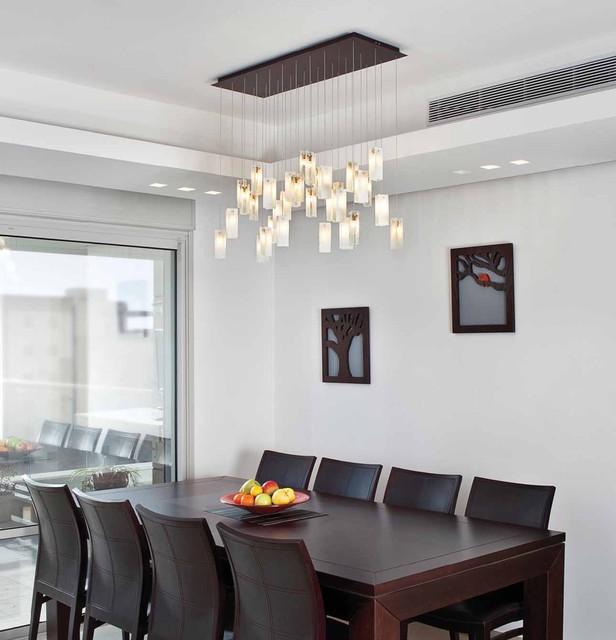 Amazing Drops Chandelier Contemporary Dining Room