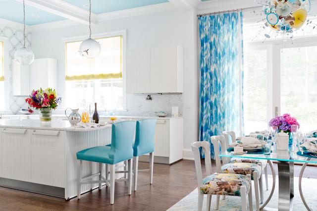 Duneier Design, Holiday House Hamptons contemporary-dining-room