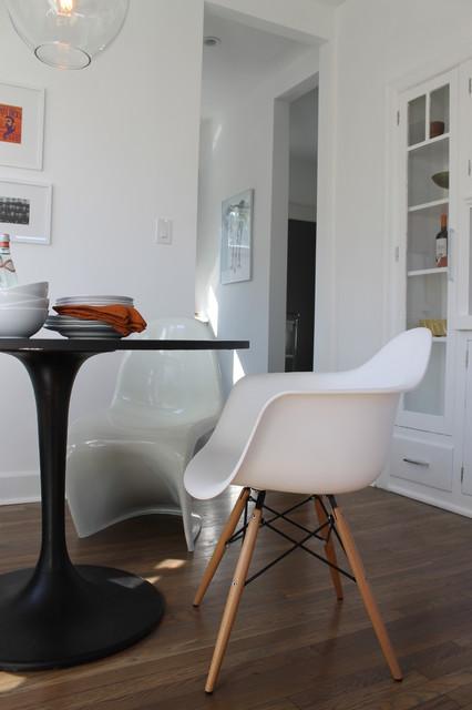 eames molded plastic dowel leg chair modern dining room los