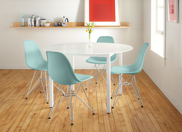 Eames Plastic Chair with Wire Base by R&B contemporary-dining-room