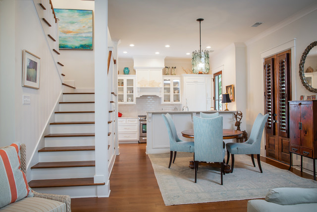 beach style dining room charleston by clarke design group
